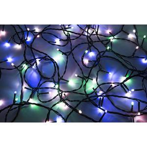 Neon-Night Гирлянда Твинкл Лайт 10 м, черный ПВХ, 100 диодов, цвет белый/мультиколор гирлянда neon night клип лайт 24в 5 нитей по 20 м 665 led белые 323 505