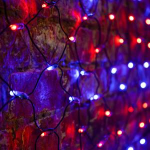 Neon-Night Гирлянда Сеть 2х0,7м, черный ПВХ, 176 LED Красные/Синие