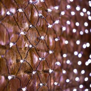 Neon-Night Гирлянда Сеть 2х0,7м, черный ПВХ, 176 LED Белые