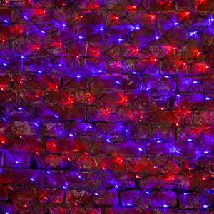 Neon-Night Гирлянда Сеть 2х1,5м, черный ПВХ, 288 LED Красные/Синие