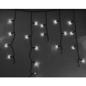 Neon-Night Гирлянда Айсикл (бахрома) светодиодный, 4,8 х 0,6 м, черный провод, 230 В, диоды белые, 176 LED гирлянда neon night galaxy bulb string светодиодная влагостойкая 30 ламп х 6 led каучуковый провод цвет черный зеленый 10 м
