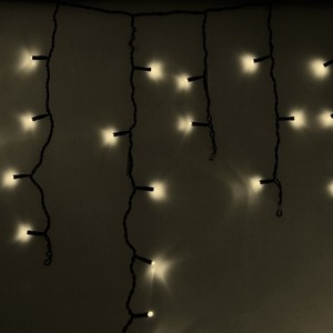 Neon-Night Гирлянда Айсикл (бахрома) светодиодный, 4,8 х 0,6 м, черный провод, 230 В, диоды ТЕПЛЫЙ БЕЛЫЙ, 176 LED гирлянда neon night айсикл 2 4x0 6m 88 led warm white 255 046
