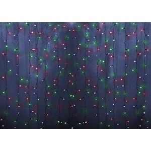 Neon-Night Гирлянда Светодиодный Дождь 2х1,5м, постоянное свечение, прозрачный провод, 230 В, диоды МУЛЬТИ, 192 LED