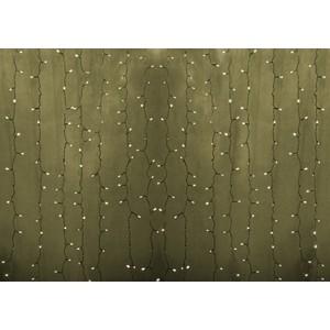 Neon-Night Гирлянда Светодиодный Дождь 2х1,5м, постоянное свечение, прозрачный провод, 230 В, диоды ТЕПЛЫЙ БЕЛЫЙ, 192 LED