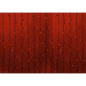 Neon-Night Гирлянда Светодиодный Дождь 2х1,5м, постоянное свечение, черный провод, 230 В, диоды КРАСНЫЕ, 360 LED