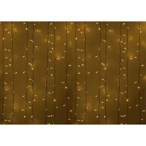 Neon-Night Гирлянда Светодиодный Дождь 2х1,5м, постоянное свечение, белый провод, 230 В, диоды ЖеЛТЫЕ, 360 LED гирлянда neon night светодиодный дождь 235 025