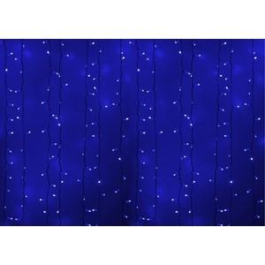 Neon-Night Гирлянда Светодиодный Дождь 2х1,5м, постоянное свечение, белый провод, 230 В, диоды СИНИЕ, 360 LED