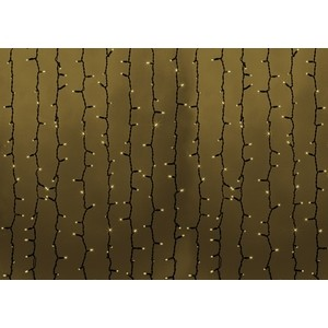 Neon-Night Гирлянда Светодиодный Дождь 2х1,5м, постоянное свечение, черный провод, 230 В, диоды ТЕПЛЫЙ БЕЛЫЙ, 360 LED