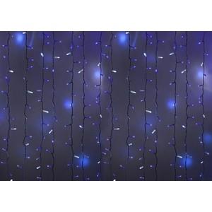Neon-Night Гирлянда Светодиодный Дождь 2х1,5м, эффект мерцания, белый провод, 230 В, диоды СИНИЕ, 360 LED