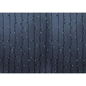Neon-Night Гирлянда Светодиодный Дождь 2х1,5м, постоянное свечение, черный провод, 230 В, диоды БЕЛЫЕ, 360 LED