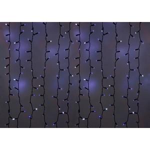 Neon-Night Гирлянда Светодиодный Дождь 2х1,5м, эффект мерцания, черный провод, 230 В, диоды СИНИЕ, 360 LED