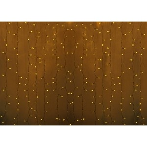 Neon-Night Гирлянда Светодиодный Дождь 2х3м, постоянное свечение, прозрачный провод, 230 В, диоды ЖеЛТЫЕ, 448 LED