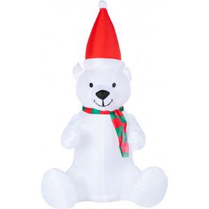 Neon-Night 3D фигура надувная Белый медведь, размер 120 см, внутренняя подсветка 5 LED, компрессор с адаптером 12В, IP 65