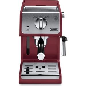 Кофеварка DeLonghi ECP 33.21.R красный/ серебристый