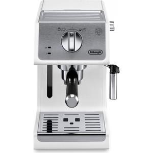 Кофеварка DeLonghi ECP 33.21 W белый/ серебристый цена и фото