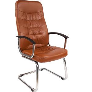 Офисное кресло Русские кресла РК 200V полозья хром коричневая Ариес все цены