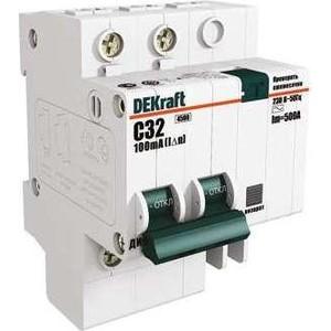 Выключатель автоматический дифференциального тока DeKraft 2п C 20А 30мА тип AC 4.5кА ДИФ-101 4.5мод. 15004DEK