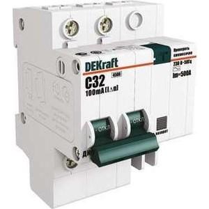 Выключатель автоматический дифференциального тока DeKraft 4п C 25А 30мА тип AC 4.5кА ДИФ-101 6.5мод 15022DEK