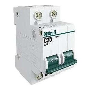 Выключатель автоматический модульный DeKraft 3п D 63А 4.5кА ВА-101 11132DEK