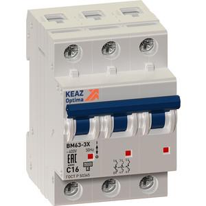 Выключатель автоматический КЭАЗ 3п 63 А OptiDin BM63 Р УХЛ3 (103896)