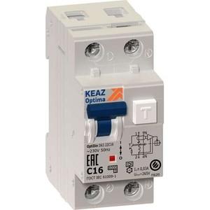 Выключатель автоматический КЭАЗ 2п (1P+N) C 32А 30мА тип A 6кА OptiDin D63 УХЛ4 2мод. (103510) дифференциальный автомат 1p n 32а тип c 30 ма 4 5 ka abb dsh941r