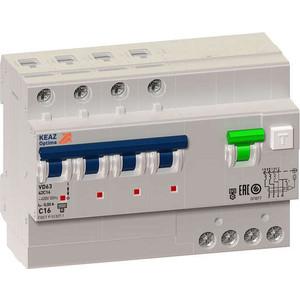 Выключатель автоматический КЭАЗ 4п C 63А 30мА тип A 6кА OptiDin VD63 УХЛ4 (103482)