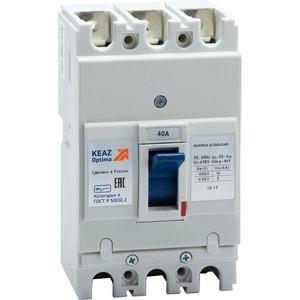 Выключатель автоматический КЭАЗ OptiMat E100L040 УХЛ3 (100004)