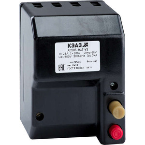 Выключатель автоматический КЭАЗ АП50Б 3МТ 25А 10In 400AC У3 (107275)