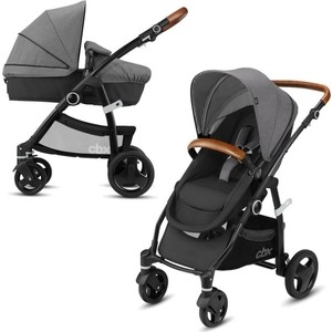 Коляска трансформер CBX by Cybex Leotie Flex Lux Comfy Grey (518002263) автокресло cbx by cybex aton basic cbx comfy grey 518001563