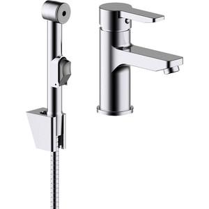 Смеситель для раковины IDDIS Sena с гигиеническим душем (SENSB00i08) смеситель для раковины с гигиеническим душем iddis carlow plus crpsb00i08