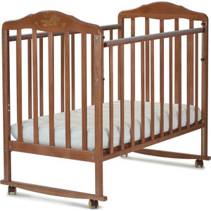 Кроватка Malika Зебра орех 210117