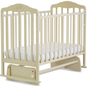 Кроватка Malika с маятником Зебра бежевый 214009