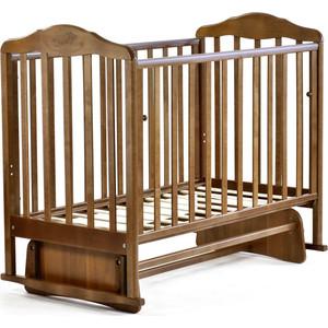 Кроватка Malika с маятником Зебра орех 214007 (БИ 37 3)