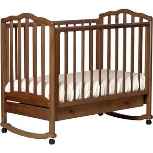 Кроватка Кубаньлесстрой Жасмин с ящиком орех АБ 19 1