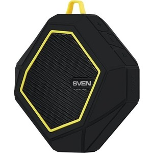 Портативная колонка Sven PS-77 black/yellow колонка sven ps 70bl