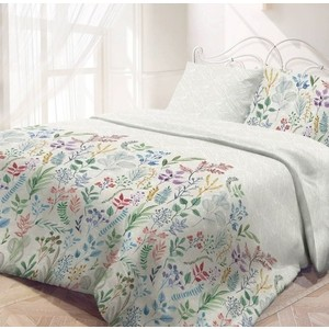Комплект постельного белья Самойловский текстиль семейный, бязь, Гербарий (721092)