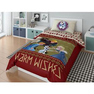 Комплект постельного белья Disney 1,5 сп, поплин, Olaf warm wishies (723648)