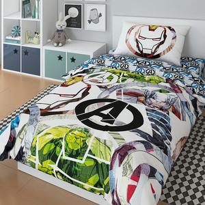 Комплект постельного белья MARVEL 1,5 сп, поплин, Avengers (724744)