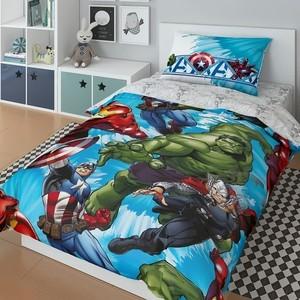 Комплект постельного белья MARVEL 1,5 сп, поплин, Avengers (724747)