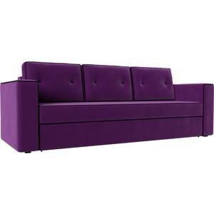 Диван прямой АртМебель Принстон микровельвет фиолетовый