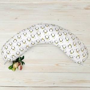 Подушка для беременных AmaroBaby 170х25 (пингвины) (amaro-4001-pi)