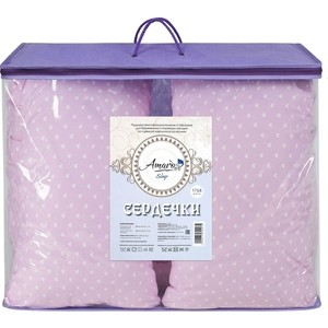 Подушка для беременных AmaroBaby 170х25 (сердечки розовые) (amaro-4001-sr)