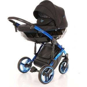 Коляска 2 в 1 Junama diamond individual (черный/синяя рама) (jdi-02) детская коляска 2 в 1 junama diamond jd 01 темно синий белый короб