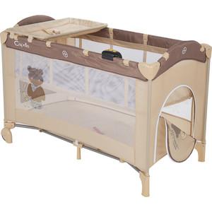 Манеж - кровать Capella SWEET TIME BEAR, бежевый цена 2017