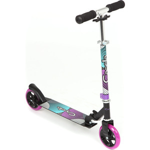Самокат 2 х колесный Capella фиолетовый+бирюзовый