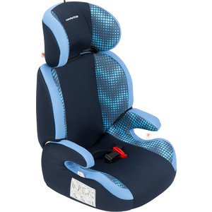 Автокресло Leader Kids 15-36 кг Регата fix 2-3 гр., цвет: синий+голубой принт зиг-заг