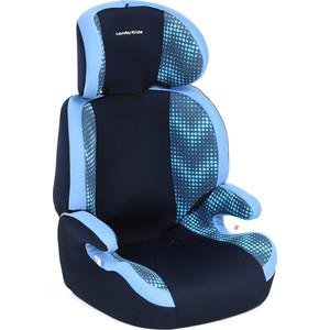 Автокресло Leader Kids 15-36 кг Регата, 2-3 гр., цвет: синий+голубой принт зиг-заг автокресло leader kids drive серый голубой принт