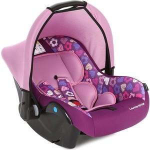 Автокресло переноска Leader Kids 0-13 кг Вояж, 0+ гр., фиолетовый+принт сердечки автокресло caretero ткань фиолетовый f 115 0 13