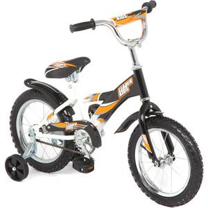 Велосипед 2 х колесный Leader Kids (от 3-х лет) (белый+черн)