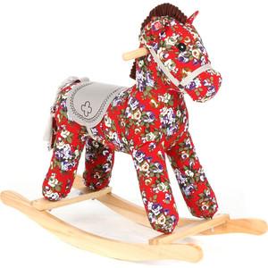 Качалка игрушка Leader Kids Лошадка, КРАСНЫЙ/ЦВЕТЫ